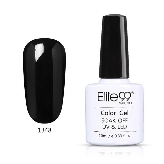 Elite99 Weiß Schwarz Jump Farbe Nagel Gel 10 ml Reine Farbe Tränken Weg Vom UV Lack Basis Mantel Top Mantel UV gel Maniküre Nail art Lack