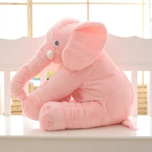 65cm Plush Elephant Toy Baby Sleeping Pillow Back Cotton Cushion Stuffed Animal Baby Doll  Newborn Playmate  Kids Birthday Gift