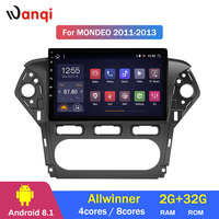 2G RAM 32G ROM 10.1 inch full screen car audio radio system player Android 8.1 for Ford MONDEO 2007 2013 gps navigation