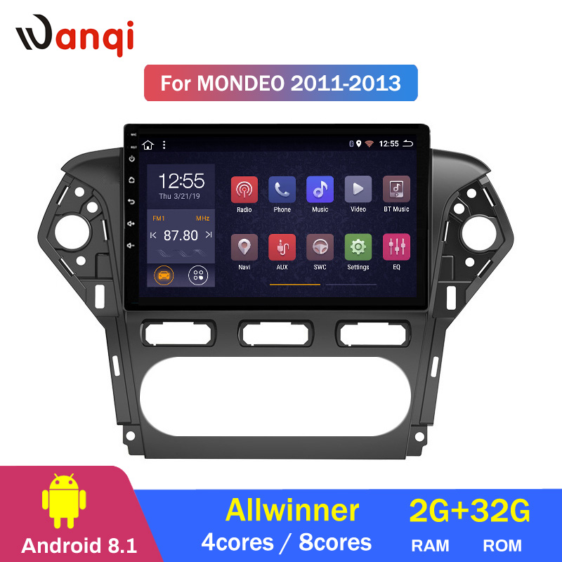 2G RAM 32G ROM 10.1 pouces plein écran voiture système audio radio lecteur Android 8.1 pour Ford MONDEO 2007-2013 gps navigation