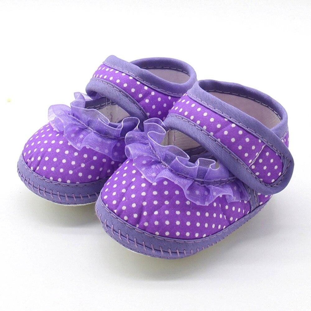Flats-Shoes Prewalker Soft-Sole Newborn Girls Infant Casual Warm Dot Lace Children Print