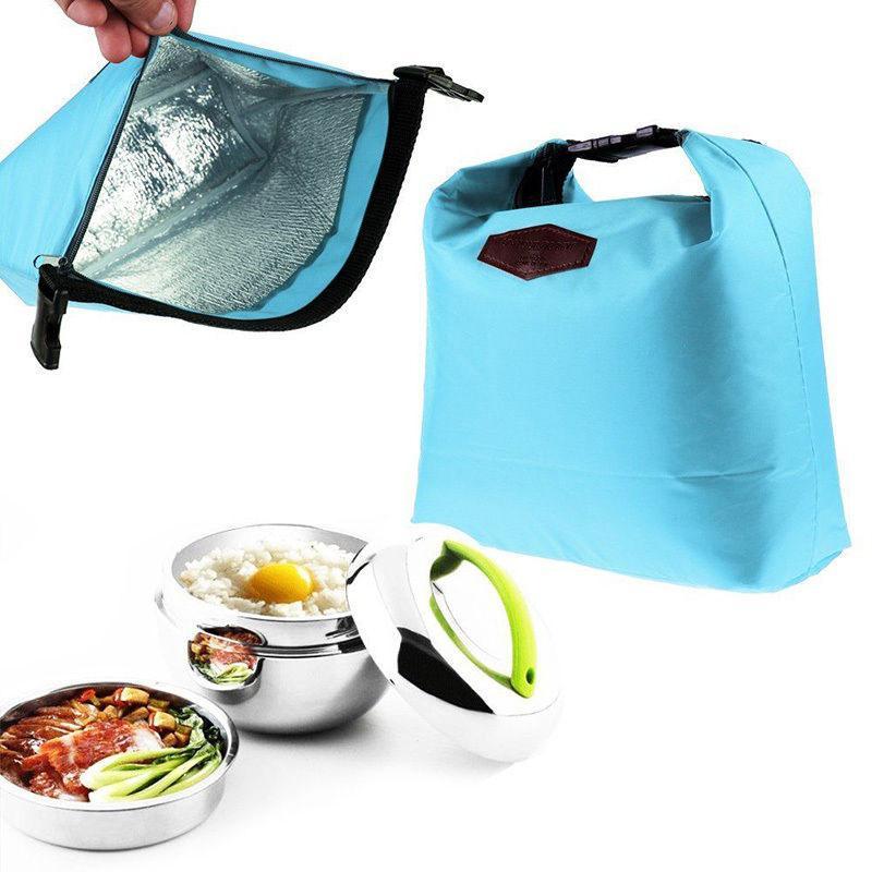 การปฏิบัติที่เรียบง่ายได้รับการออกแบบที่เรียบง่ายกันน้ำกระเป๋าเก็บความร้อนไหล่กล่องอาหารกลางวัน