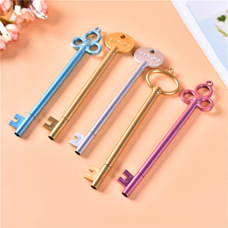 Retro Key Neutral Pen Student Cartoon Cute Signing Writing Pen Creative Plastic Fountain Pens Wholesale Office Stationery