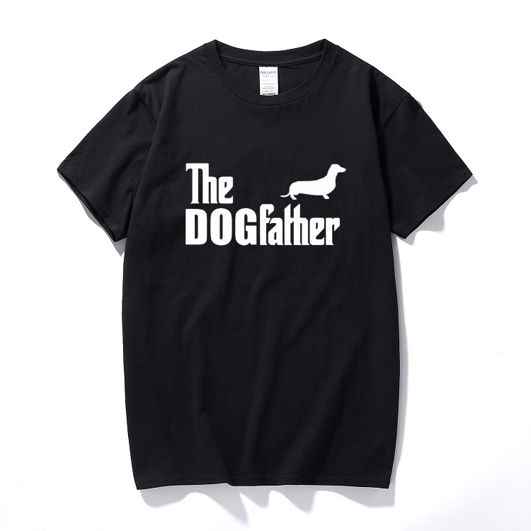 Die Dogfather Dackel Wurst Hund Lustige Humor Gedruckt T-shirt Herren T Shirt Oberteile Und T-shirts