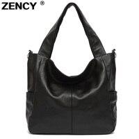 3 Sizes ZENCY Bags Handbags Famous Brands Real Genuine Leather Women Handbag Lady Tote Shoulder Messenger