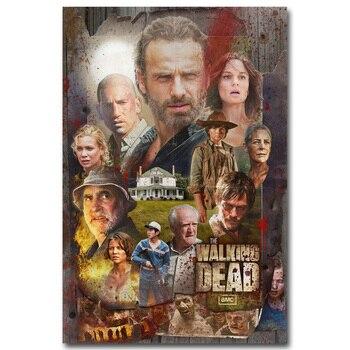 Шелковый плакат гобелен Ходячие мертвецы The Walking Dead