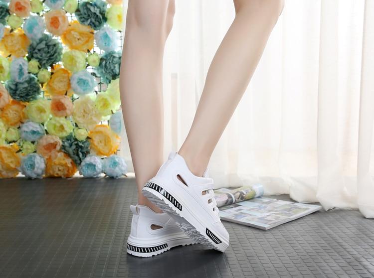 Swyivy mulher sandálias sapatos brancos tênis verão