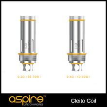 Original Aspire Dual Clapton Coil 0.2ohm 0.4ohm Aspire Cleito Coil Heads Byte Atomizer Heads 10Pcs / Lot