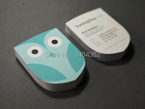 Image 3 - custom shape business Card printing Personalized die cut visiting cards round corners and full color