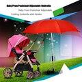 Brand New Acessórios Carrinho De Bebê da Luz Do Sol Guarda-chuva Colorido Crianças Carrinho de Bebê Guarda-chuva Dobrável com Suporte Ajustável