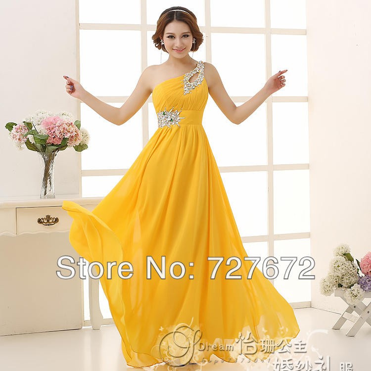 Yellow Maid Of Honor Dresses