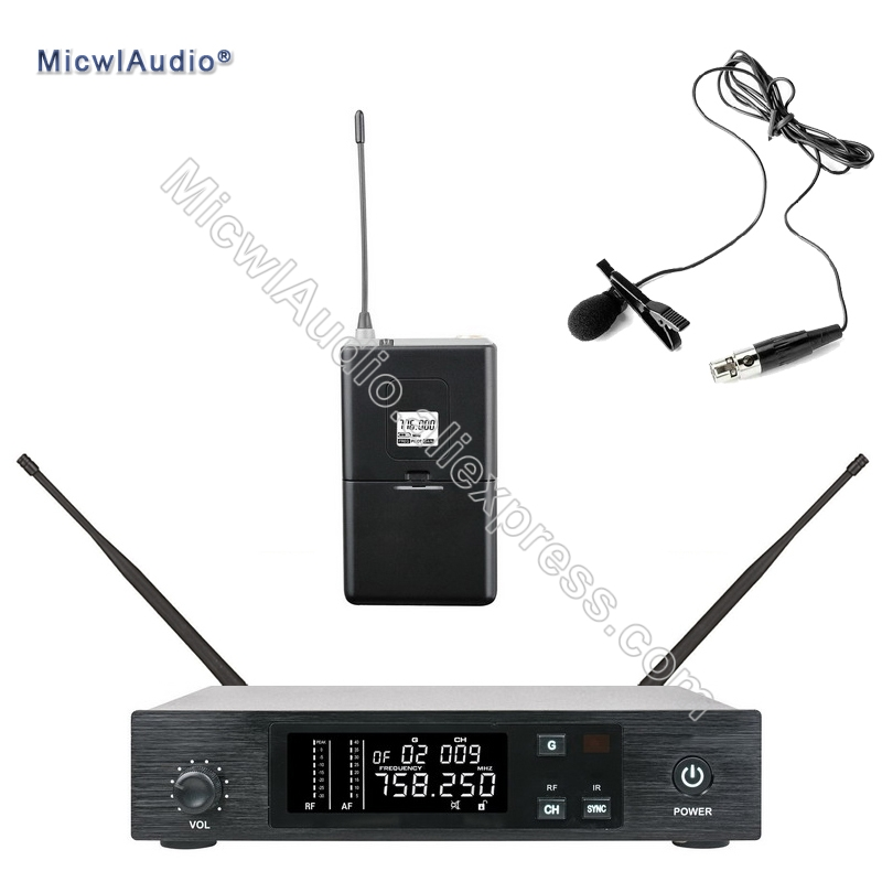 96 Channel Stage Performance Singing Speaking Wireless Microphone UHF System Transmitter Sets With Lavaliver ForBodypack96 Channel Stage Performance Singing Speaking Wireless Microphone UHF System Transmitter Sets With Lavaliver ForBodypack