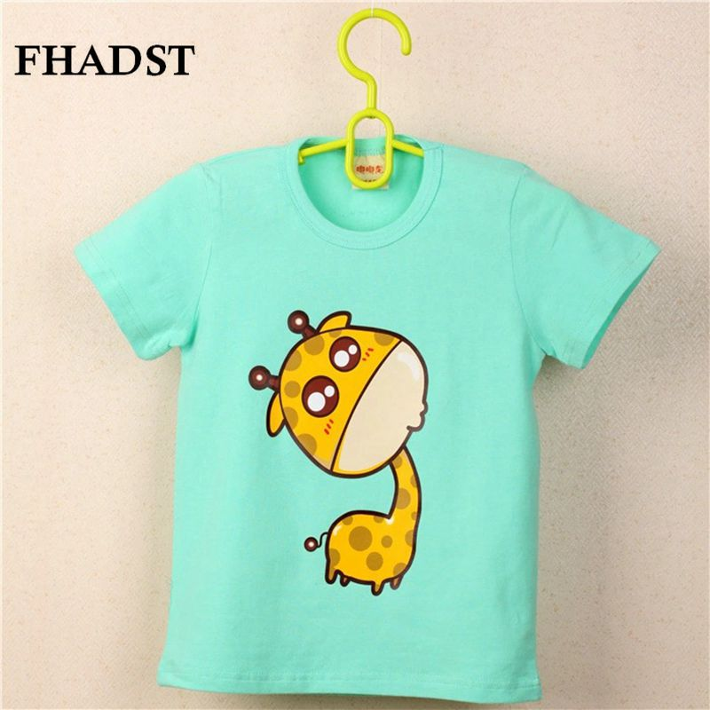 FHADST Hot Sale Fashion Baby 0-2 year Boys Black Cool T shirt Short Sleeve Cotton Casual tees Kids Clothes Character Cute Animal