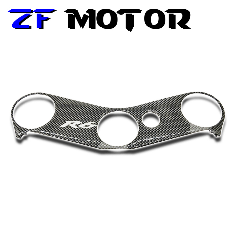 Motorcycle Decal Pad Triple Tree Top Clamp Upper Front End For 2006-2012 Yamaha YZF600 R6 2006 2007 2008 2009 2010 2011 2012