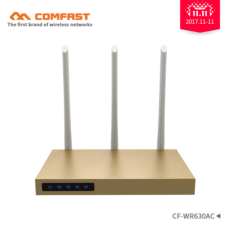 COMFAST 750Mbps 5.8Ghz Dual Band wireless 802.11ac wifi router repeator with 3*6dBi antenna build-in 3PA high power wifi routers new tp link wdr7400 1750mbps 11ac 6 antenna fast wifi extender wireless dual band router for home computer networking