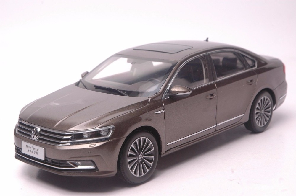 1:18 Diecast Model for Volkswagen VW Passat 2016 Brown Alloy Toy Car Miniature Collection Gifts 1 18 масштаб vw volkswagen новый tiguan l 2017 оранжевый diecast модель автомобиля