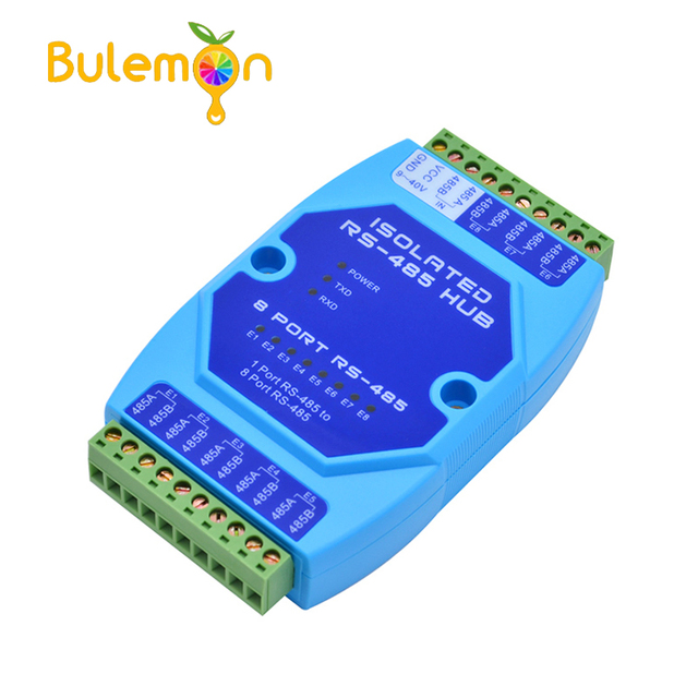 8 port 485 Hub 8 channel RS485 Splitter 485 Sharer Industrial Grade Optically Isolated Repeater