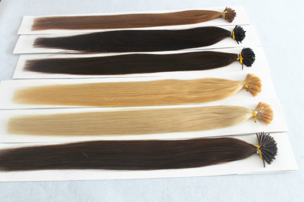 20″ Natural Remy Keratin Fusion Hair Extensions,Brazilian Virgin Human Hair Products Straight I Tip Stick keratina para cabello