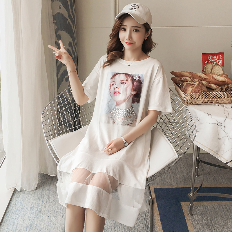 Pattern Printing Maternity Clothing Bohemian Pregnancy Dress Patchwork Loose Cotton Maternity Clothes For Pregnant Women