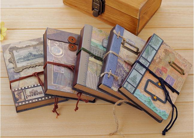 New vintage Memory frame Craft notebook /hand cover book/DIY Journal Notepads/agenda the memory book
