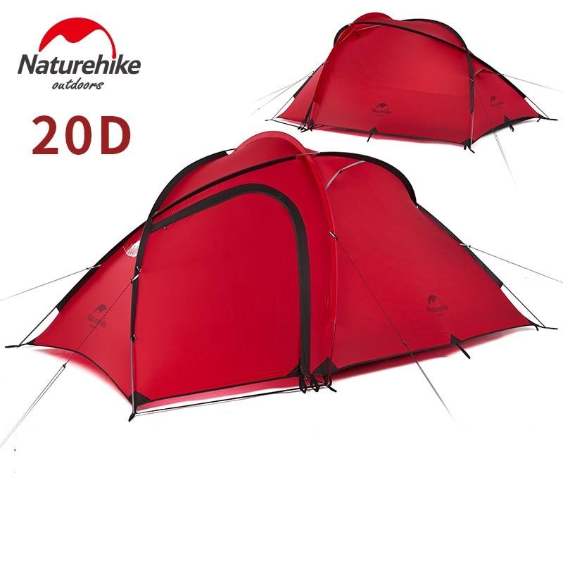 Naturehike Hiby 家族テント 20D シリコーン生地防水二層 3 人 4 シーズンキャンプのテント 1 部屋 1 ホール  グループ上の スポーツ & エンターテイメント からの テント の中 2