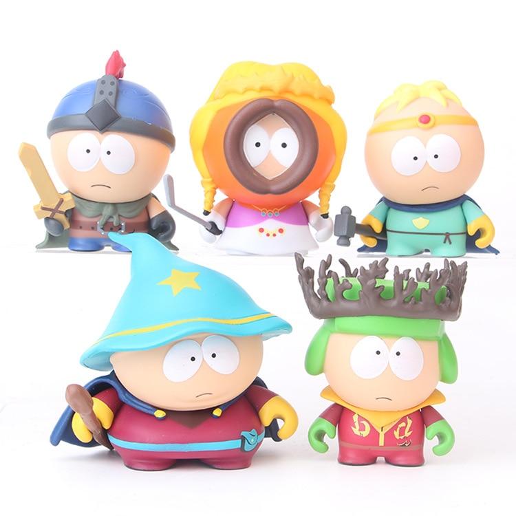5pcs/set Anime South Park 2 Stan Kyle Kenny Cartman 6cm Action Figure Collectible Model Toys for Children s
