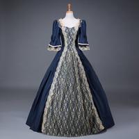 Renaissance Georgian Period Masquerade Princess Bridesmaid Dresses Masquerade Ball Gown Reenactment Rococo Clothing