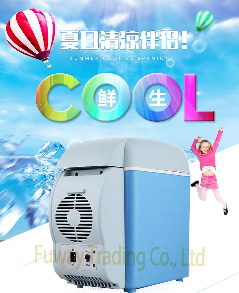 DHL Free Shipping!!6L Portable Mini Car Fridge Vehicle Multi-Function Home Cooler Freezer Warmer Refrigerator Fridge Auto Supply