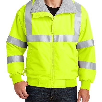 Port Authority SRJ754 Mens Enhanced Visibility Challenger Jacket with Reflective Taping Safety Yellow & Reflective - 2XL