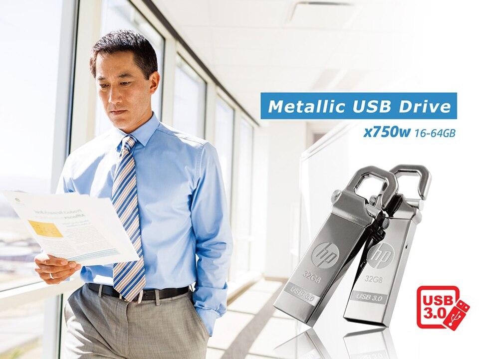 HP x750w USB Flash Drive USB 3.0  32GB 16GB  High Speed Elegant Metal USB Stick 16gb Pendrive Flash Drive Customized Logo Pen drive   (11)