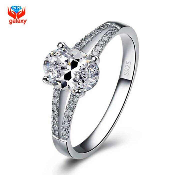 YHAMNI Gloednieuwe Mode 925 Sterling Zilveren Ring Sieraden 2 Carat CZ Diamant Trouwringen Vrouwen Ring Maat 5 6 7 8 9 10 YH239