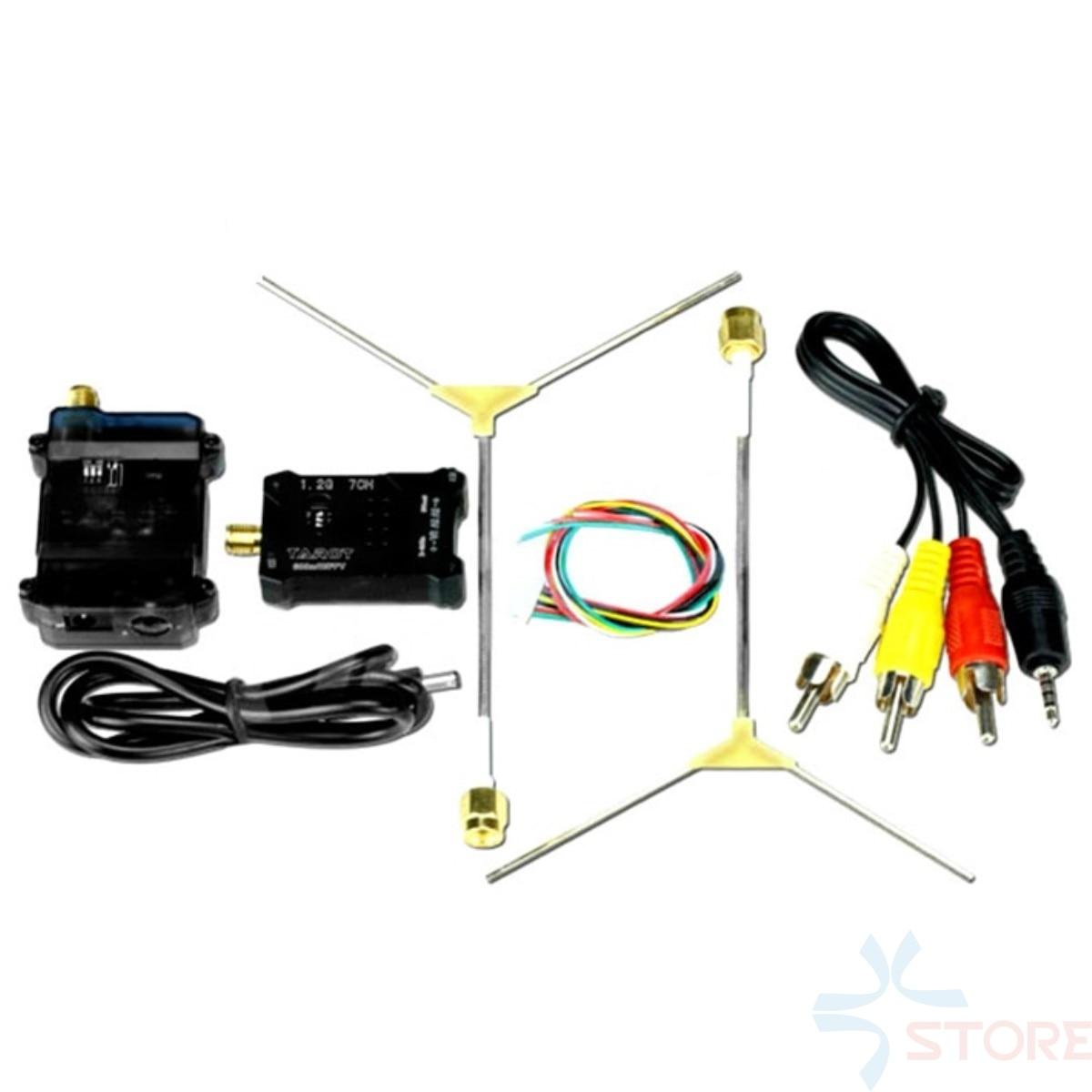 Tarot 1.2G FPV 600MW RX/TX TL300N5 AV Wireless Wiring Transmitter Receiver Set 1.2Ghz Antenna for DIY FPV Racing Drone 5 8g fpv 600mw wireless av rc832 receiver with ts5828 av mini transmitter system for fpv quadcopter