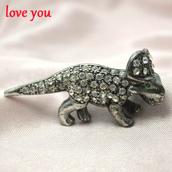 new arrival rhinestone dinosaur brooches for women cute fashion jewelry vintage style brooch pins animal brooch high quality