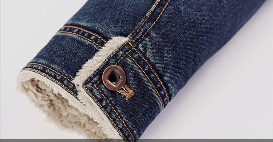 LONMMY M-4XL 2018 Winter Jeans Jacke Herren Mantel Jeans Herren Jacke - Herrenbekleidung - Foto 5