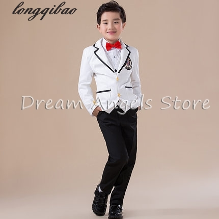 High quality 2016 new fashion baby boys kids blazers boy suit for weddings prom formal Black & white dress wedding boy suits kimocat boy and girl high quality spring autumn children s cowboy suit version of the big boy cherry embroidery jeans two suits