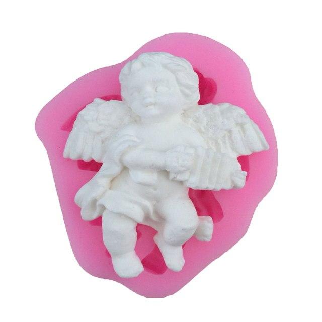 New Angel Boy Forma 3D Tortiera In Silicone Muffa Della Candela ...