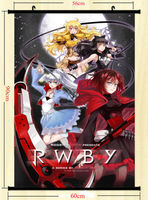 RWBY Volume 2 Cartoon Anime Wall Scroll Silk Poster 24x31 inches Red Trailer 005