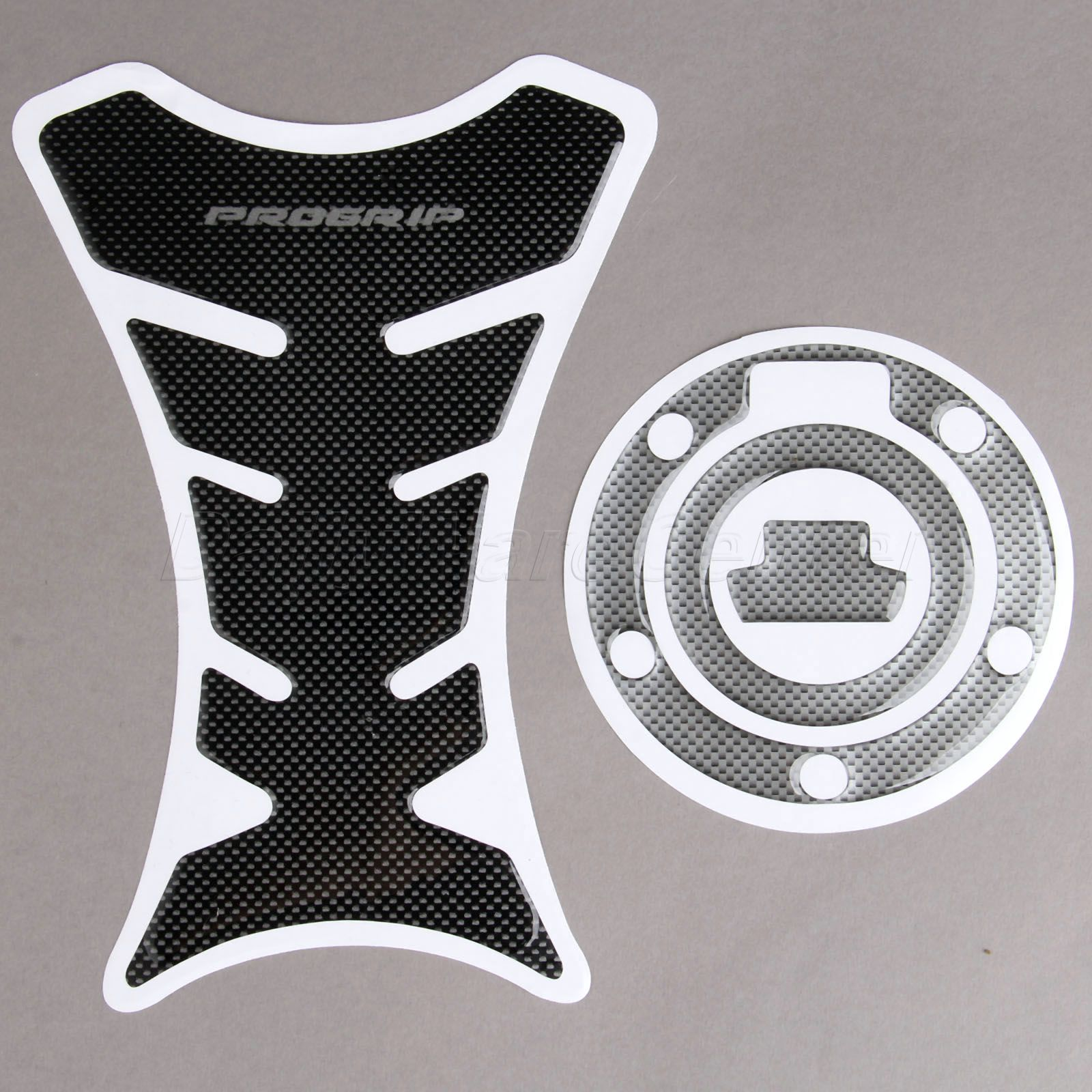 Carbon fiber motorcycle decoration decals fuel tank pad for Sticker deco