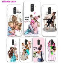 Soft Silicone Phone Case Baby Mom Girl Print for Samsung Galaxy A70 A50 A40 A9 A8 A7 A6 A5 A3 Plus 2018 2017 2016 Cover sword sao manga hard cover for samsung galaxy a6 plus 2018 shockproof phone case for samsung galaxy a50 a70 a3 a5 a6 plus