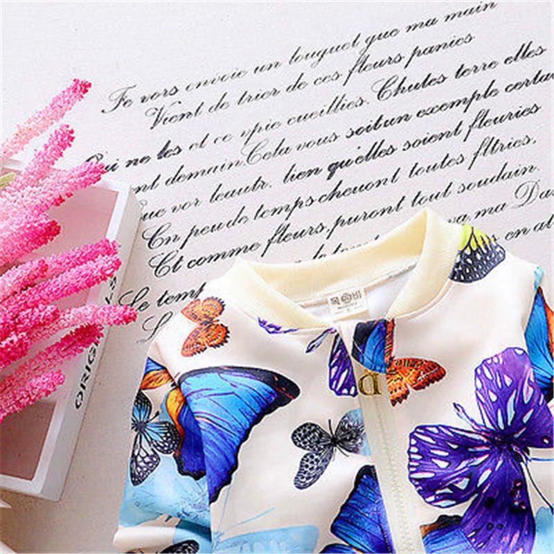 Newbaby 2 PCS Bayi Balita Anak Perempuan Jaket Pakaian Kupu-kupu - Pakaian anak anak - Foto 3