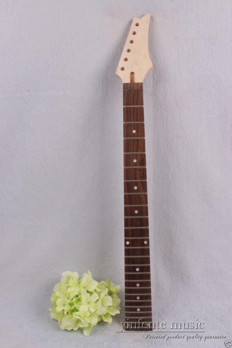1pcs New electric guitar neck maple wood 24 fret 25.5'' rose wood Truss Rod #733 new electric guitar neck maple 24 fret 25 5 truss rod unfinished no frets nice