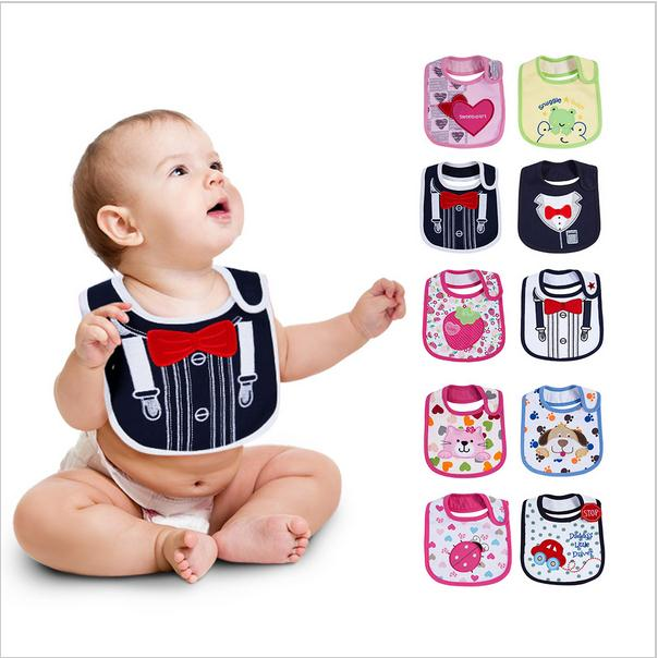 Newborn Baby Infant Bibs Babador Cute Cartoon Saliva Towels 0-3 Years Soft Waterproof Bibs Babies Bibs Baberos Wear Burp Cloths