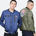 2017 NEW Spring Flight With Baseball Jacket  Military  Tactical  Army Jacket plus size 5XL black/blue/army green color coat