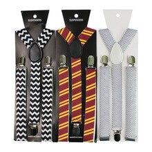 Mens Fashion Shirt Stripe Suspenders Y Shape Adjustable Elastic Shirt  Straps  Non-slip Clamps Leg Suspenders fashion easy matched stripe pattern shirt
