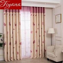 Милая занавеска для девочек, детская комната, розовый тюль, мультяшный рисунок, для окна, плотная шторка в спальню, занавески, прозрачная ткань, X541#30
