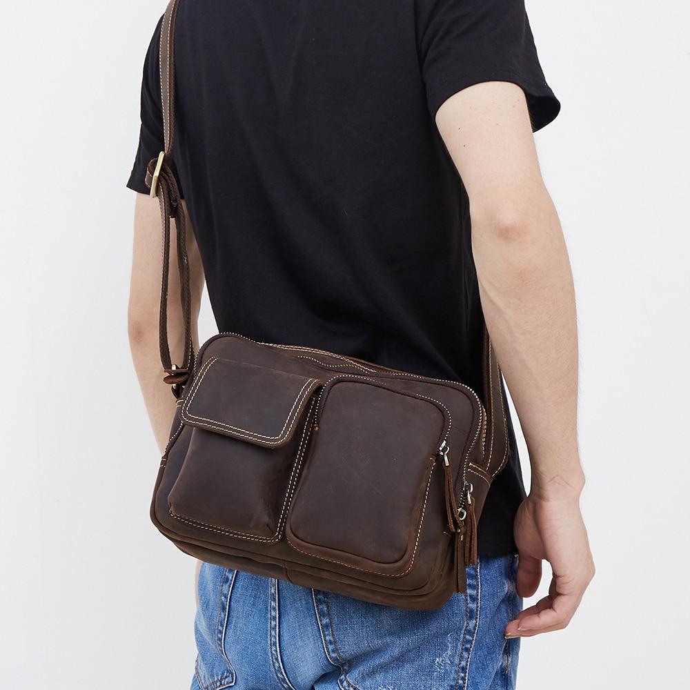 Men Business Genuine Leather Bag Laptop Tote Briefcases Single Shoulder Crossbody Bags Handbag Men's Zipper Desig Messenger Bag