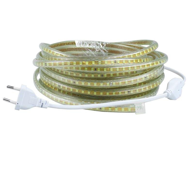 220 v Impermeabile Ha Condotto La luce di striscia con la Spina di UE 2835 SMD Luce della Corda flessibile, 120 Leds/M alta luminosità esterna decorazione dell'interno