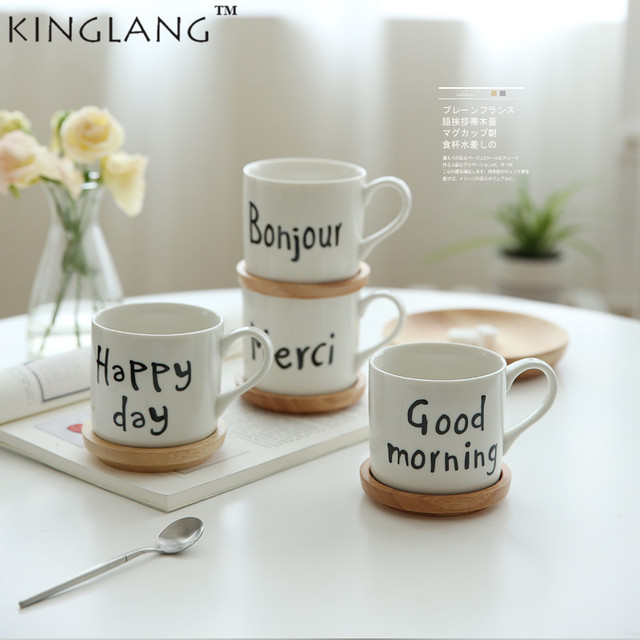 69 Kinglang A Mug From In Water Cup Breakfast Milk With Homeamp; Garden On 10Off French Wooden Coffee Greetings Us20 Lid 1pc Mugs Brief 0OPwk8nX