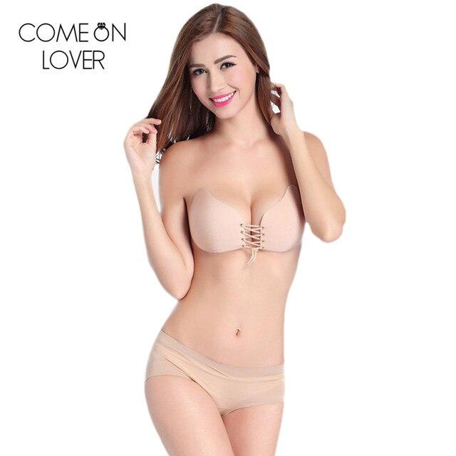 02cc95f295 Comeonlover Plus size E cup magic bra hot selling women stick on bra high  quality strapless self adhesive bra BL01 push up bras