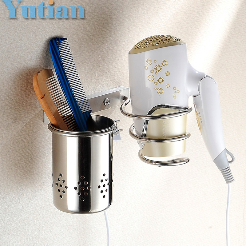 Solid & Anti-rust SUS 304 STAINLESS STEEL Hair dryer holder Hair dryer rack stand rack shelf Bathroom accessories YT-8213